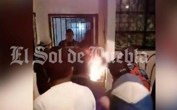 """Así quemaron vivo a """"El Recio"""", presunto ladrón de Canoa"""