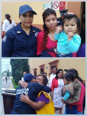 Policía salva la vida a bebé. La niña había perdido los signos vitales