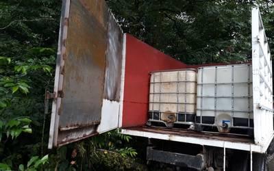Decomisan camioneta de huachicoleros en Ixtac