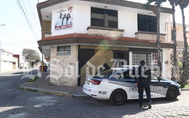 Roban 80 mil pesos de una casa de campaña de Morena