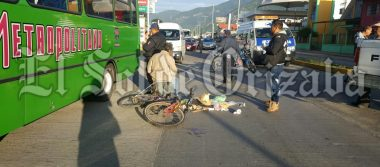 Se accidenta adulto mayor en bicicleta
