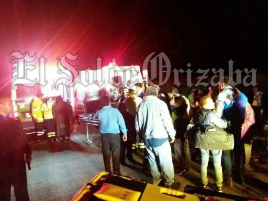 34 heridos en accidente de autobús, en la autopista