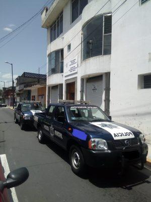 Policía municipal recupera camión en Cuautlapan