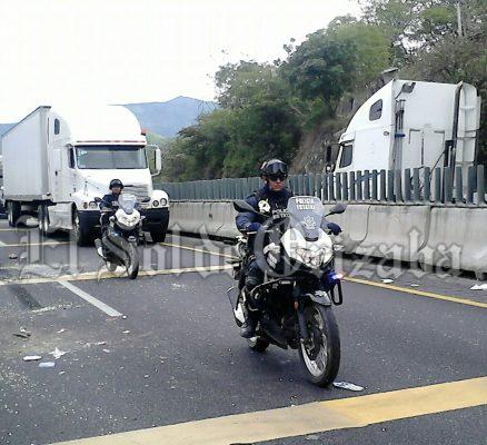 Heridos 3 moto-patrulleros durante accidente