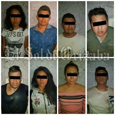 Caen 8 secuestradores en operativo