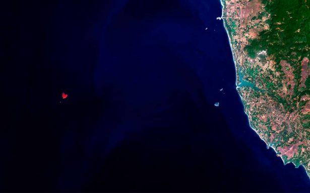 Descubren isla con forma de corazón en el Mar Arábigo