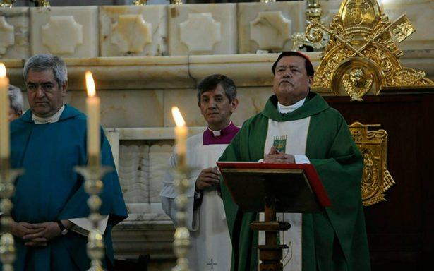 Norberto Rivera agradece labor tras sismo y con misa  recuerda a víctimas