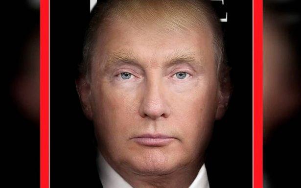 """Trump y Putin ahora son uno mismo tras """"fusionarse"""" en revista Time"""