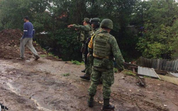 Ya son cinco los muertos por lluvias en Peribán, Michoacán