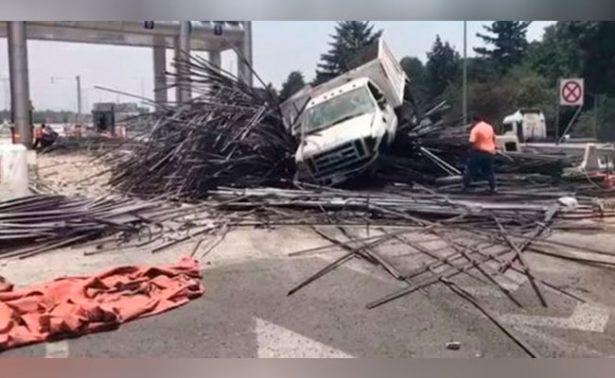Así fue el aparatoso accidente en la México-Toluca