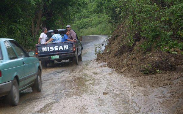 Derrumbes en Hidalgo por lluvias