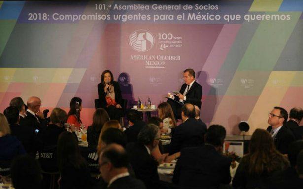 """Zavala pide a empresarios evitar el miedo a """"ya saben quién"""" y al voto de pánico"""