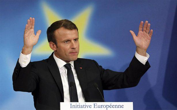 Propone Emmanuel Macron una refundación de la Unión Europa