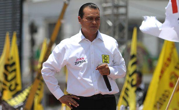 """Juan Zepeda no buscará dirigencia del PRD; """"que nadie se ponga nervioso"""""""
