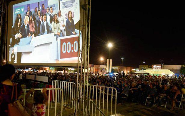 Tijuana se quedó sin futbol, pero recibió el show del debate presidencial