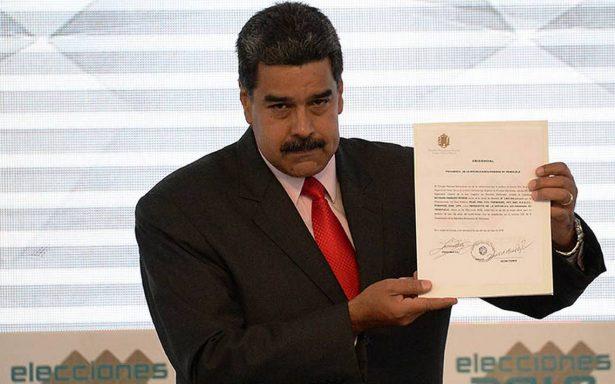 Maduro es proclamado como presidente reelegido para gobernar hasta el 2025