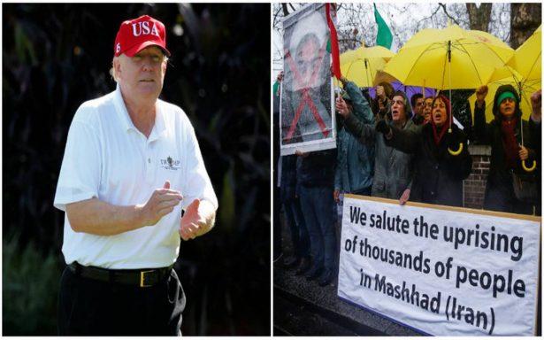 Trump elogia a manifestantes iraníes denunciar un régimen 'brutal y corrupto'
