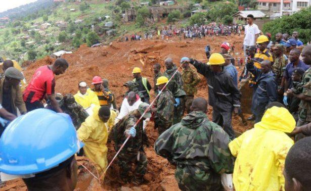 Inundaciones en Sierra Leona deja más de 300 muertos, entre ellos 105 niños