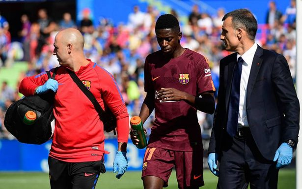 ¡Alarma en Barcelona! Sale lesionado Dembélé