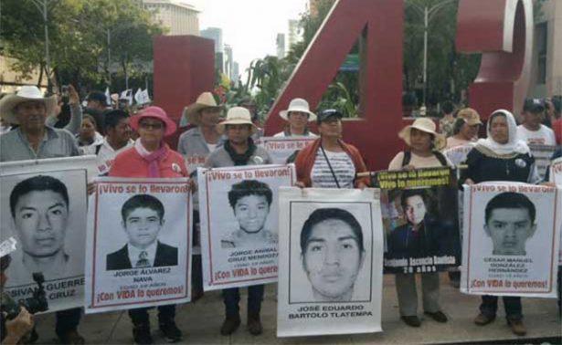 Nadie olvida a los 43 normalistas de la normal rural de Ayotzinapa