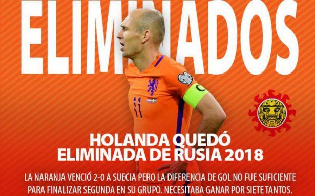 Robben anuncia retiro de selección tras eliminación de Holanda