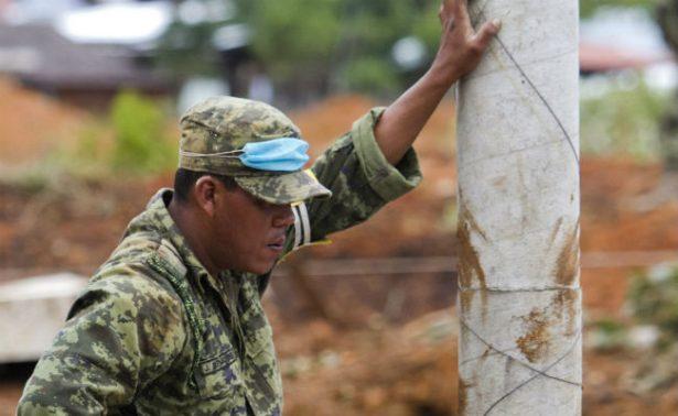 Suman 8 los militares muertos tras alud en Totolapan