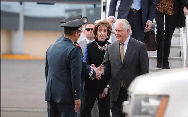 Rex Tillerson, secretario de Estado de EU llega a México