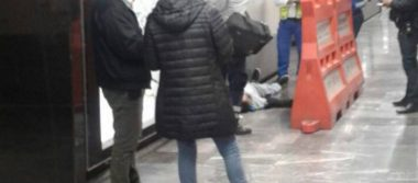 Hombre abordaba vagón del metro Isabel la Católica y muere de manera instantánea