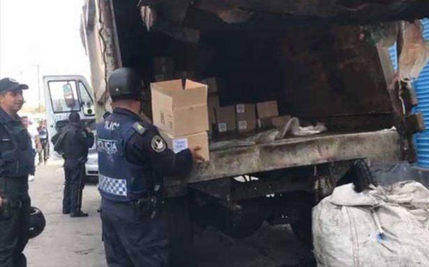 Utilizan camiones de basura en Tepito para traficar mercancía