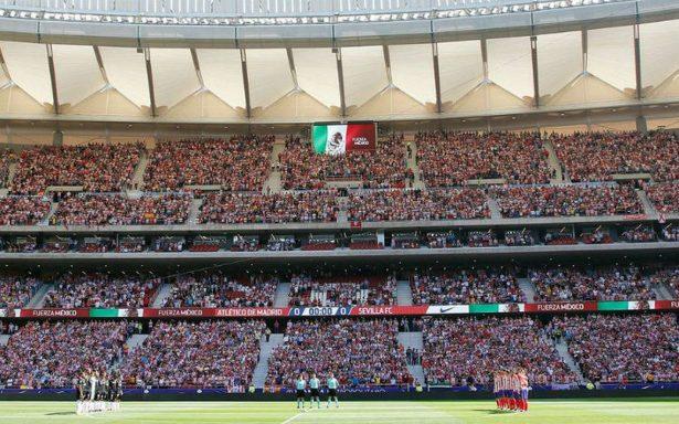 El Atlético se solidariza con los afectados del sismo del martes