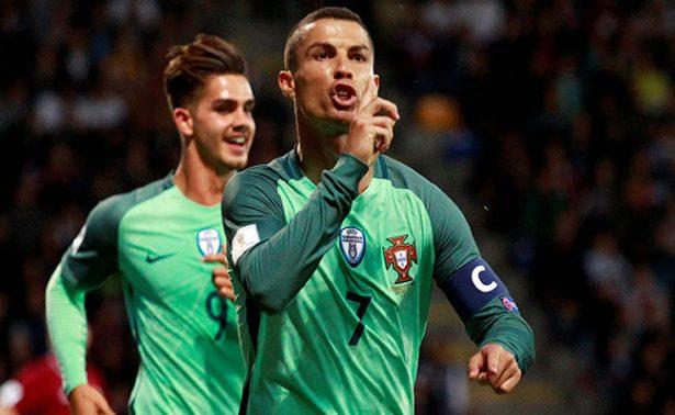 De la mano de CR7, Portugal derrota 3-0 a  Letonia