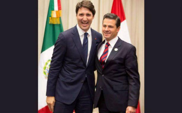 Peña y Trudeau acuerdan en avanzar en trabajo técnico del TLCAN