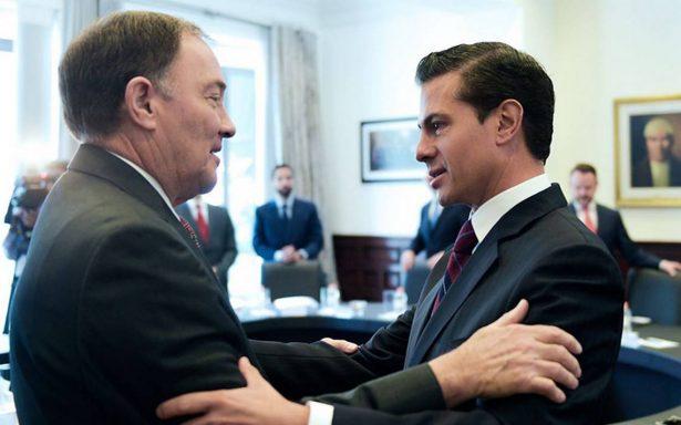 EPN agradece a gobernador Gary Herbert proteger a mexicanos que radican en Utah
