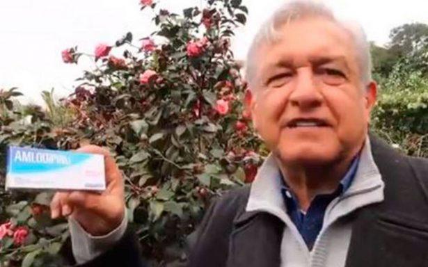 """Para que EPN no """"se altere"""", López Obrador le receta """"amlodipino"""""""