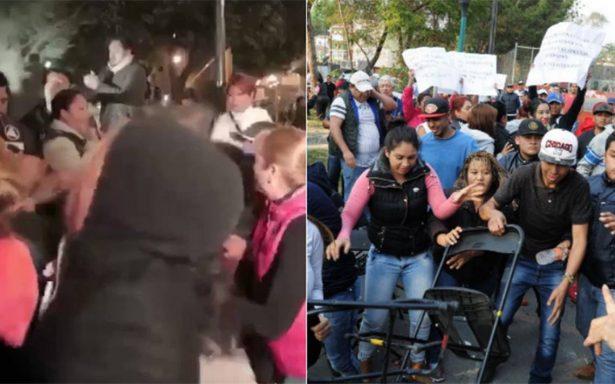 Dos veces en el día: reciben con violencia a Claudia Sheinbaum en Coyoacán