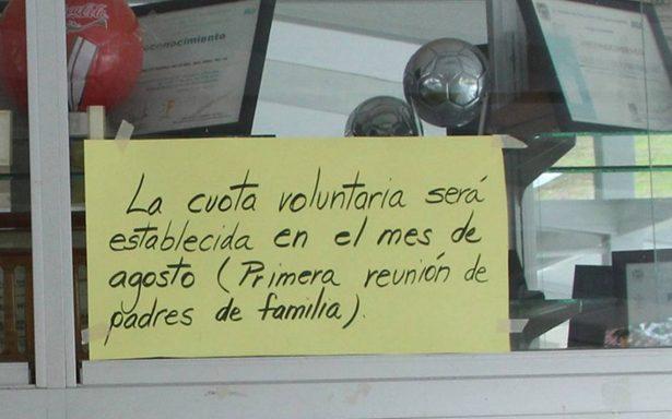 Conflicto por cuotas escolares en Aguascalientes