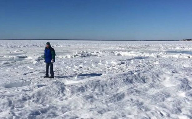¿Otra era de hielo? Ciclón bomba congela mar en Massachusetts