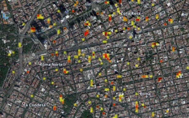 NASA capta mapa satelital de zonas dañadas por sismo
