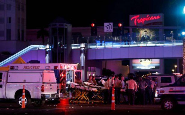 Suman 59 muertos y más de 527 heridos en tiroteo en Las Vegas