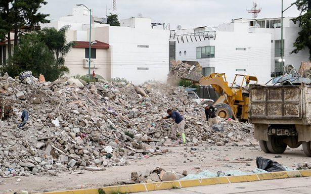 Destinan 54 zonas para disponer adecuadamente de escombros tras sismo