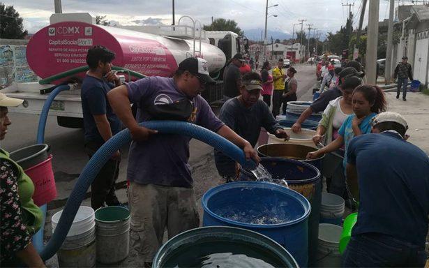 Se restablece el suministro de agua en 15 colonias de Iztapalapa