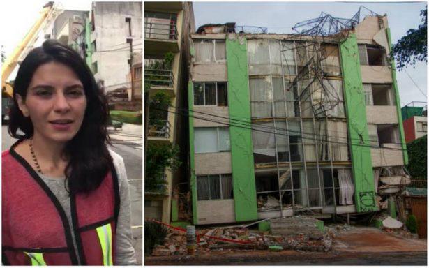 Avalan demolición de edificio en la Narvarte para buscar mujer atrapada