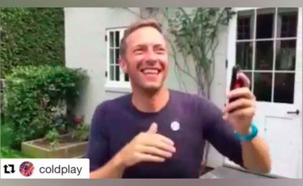 Chris Martin de Coldplay enamora las redes con éxito de Shakira
