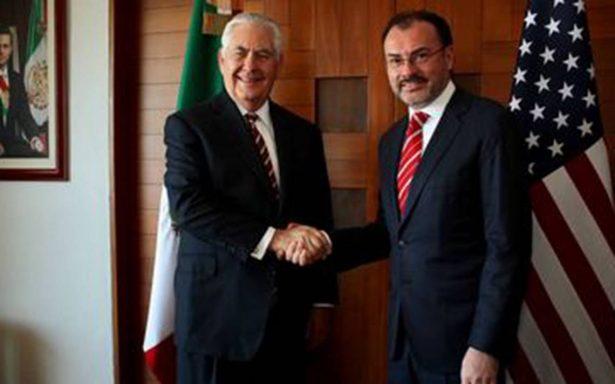 Tillerson y Videgaray coinciden en promover una región próspera