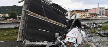 Ascienden a 42 los muertos tras derrumbe del puente en Génova
