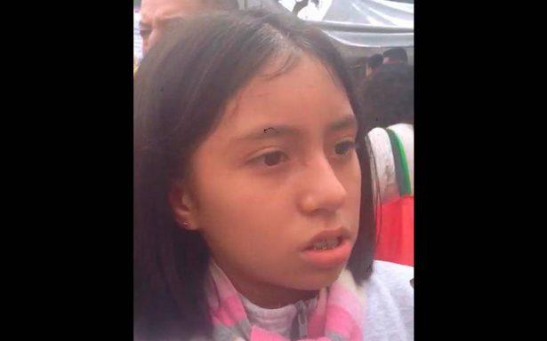 Lulú, la niña del rostro valiente tras la tragedia en el Colegio Rébsamen