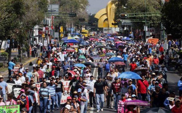 Marcha complicará tránsito vial en el centro de la Ciudad de México