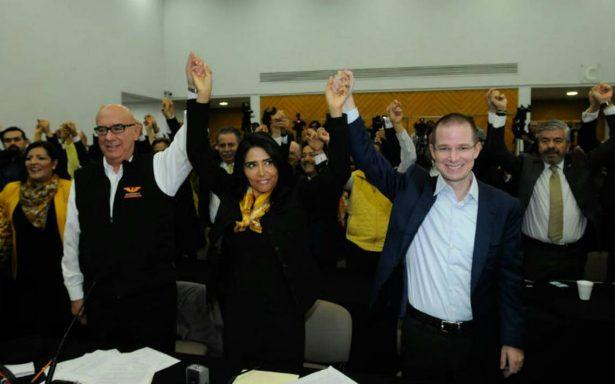 PAN, PRD y MC registran ante INE el Frente Amplio