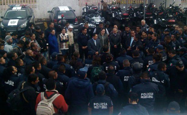 Paran labores policías de Mineral de la Reforma