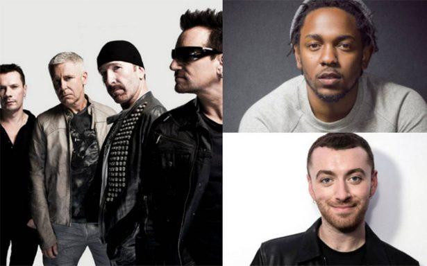 Más artistas actuarán en los Grammy: U2, Kendrick Lamar y Sam Smith